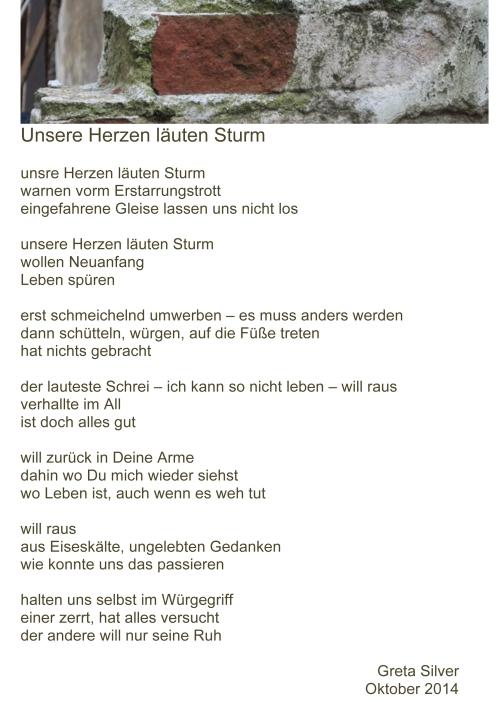 Greta  Silver Gedanken22 Herzen lŠuten Sturm